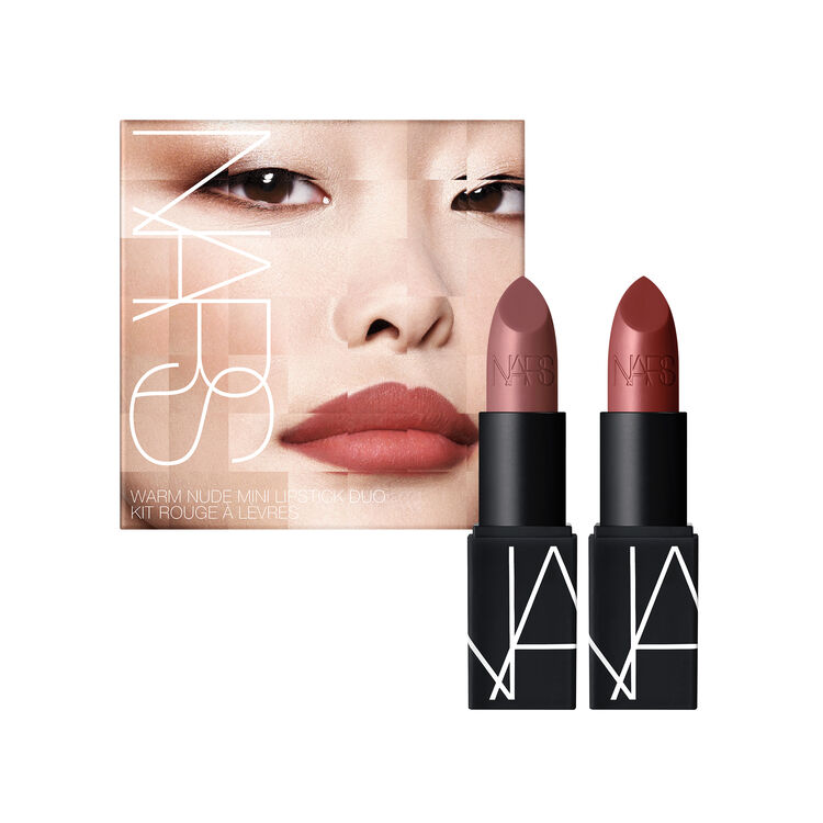 Warm Nude Mini Lipstick Duo, NARS Labios