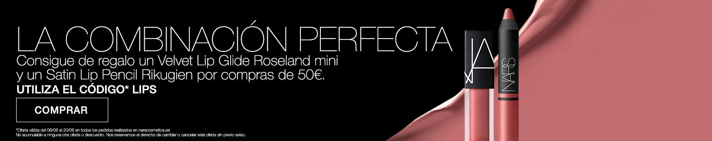 LA COMBINACIÓN PERFECTA - Consigue de regalo un Velvet Lip Glide Roseland mini y un Satin Lip Pencil Rikugien por compras de 50€. UTILIZA EL CÓDIGO* LIPS